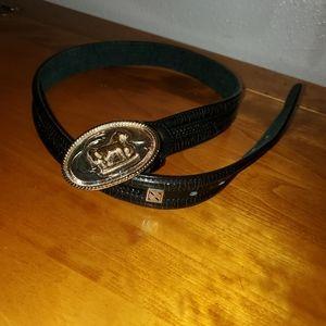 JG Western Black Vintage Belt Size Small